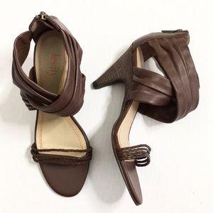 ⚡️$5⚡️Levity | Brown Leather Sandal Heels